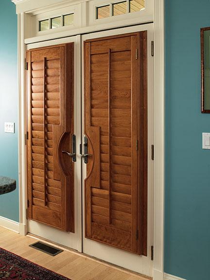 Door w-shutters