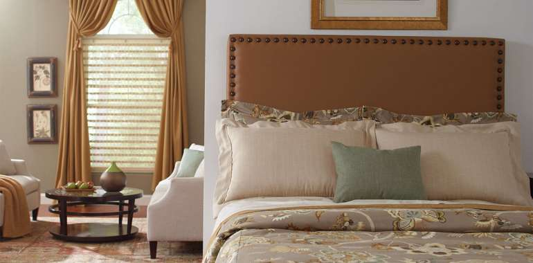 Everglades Pecan & Goblet Pleat Panels